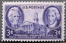 1946 US Stamp Tennessee Statehood, 3 Cent, Single Stamp, MNH