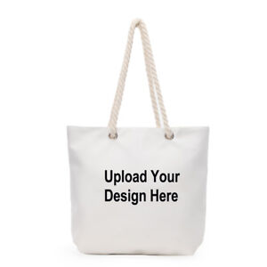Image Is Loading Personalized Canvas Bag Design Your Own Tote