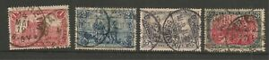 Germany-1905-15-Set-Michel-94-97-Used