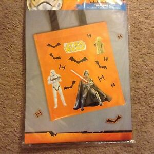 Halloween Treat Bag Kit star wars trick or treat make your own 17 stickers new