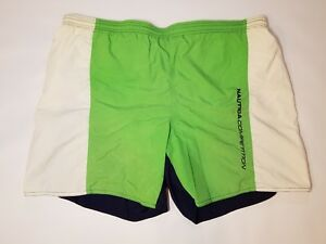 10489d50304e4 Details about Vintage Nautica Competition Swim Trunks Shorts Track Mens  Size Large Green 90s