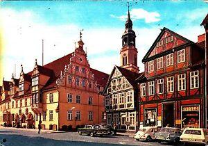 Celle-Rathaus-und-Stadtkirche-Ansichtskarte-1975-gelaufen