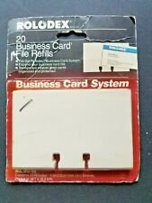 Vintage Rolodex Business Card File Refills 20 Cards 2 58 X 4 No Bc 10 1992