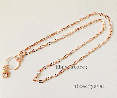 "5pcs 60cm (24"") length Alloy Necklace Chain Fit DIY Floating locket"