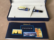 Flawless Pelikan M620 Special Edition FP, City Series, Stockholm, 18C Fine Nib