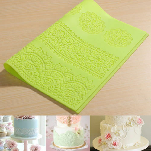 Flower Lace Mat Silicone Lace Fondant Cake Decorating Styling Baking Tool