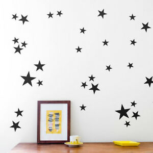 Details About Various Size Stars Wall Stickers Decal Vinyl Art Kids Bedroom Nursery Room Decor