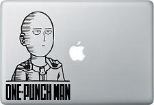 One Punch Man Saitama face - Apple Macbook Laptop, iPad, Vinyl Decal Sticker