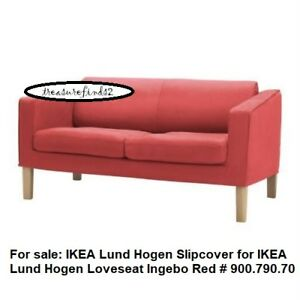 Magnificent Details About New Ikea Lund Hogen Loveseat Sofa Cover Slipcover Ingebo Red 900 790 70 Bnib Andrewgaddart Wooden Chair Designs For Living Room Andrewgaddartcom