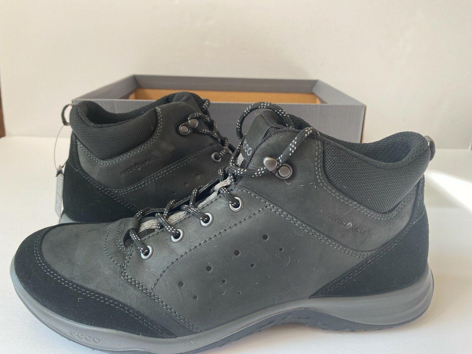 ECCO HydroMax Men's Espinho Mid Cut Hiking Boot Black US 11-11.5 EUR 45 NIB