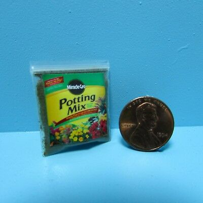 1:12 Scale Dollhouse Miniature Bag of Miracle Gro