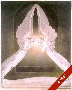 ANGELS GUARD TOMB /& BODY OF THE LORD JESUS CHRIST PAINTING ART REAL CANVAS PRINT