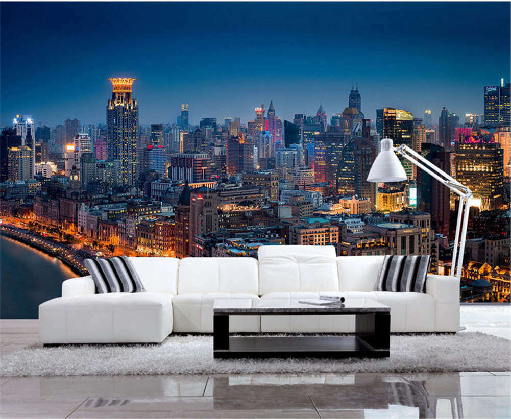 Misty Direct City 3D Full Wall Mural Photo Wallpaper Printing Home Kids Decor