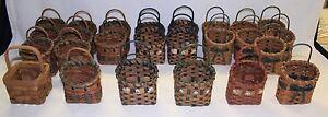 LOT-of-25-NEW-Wicker-Craft-Baskets-3-034-x3-034-5-Styles-Liquidating-Craft-Business