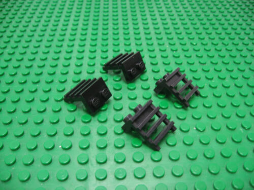 4x LEGO Black Modified Plate 1 x 2 with Ladder #4175