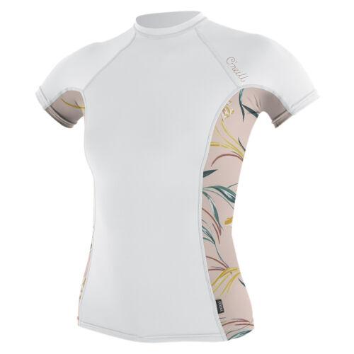 Sun Top 2019 White O/'Neill Side Print Womens Rash