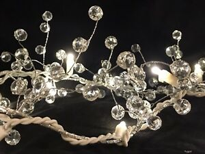 Pre Lit Acrylic Crystal Berry Garland Centerpiece Holiday Events Home Decor Ebay