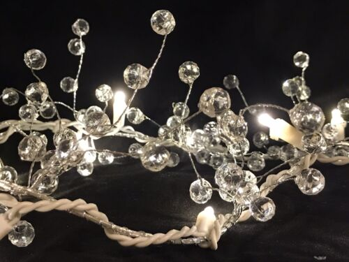 6ft Beaded Acrylic Garland String Light Seasonal Lighting Events Home Decor