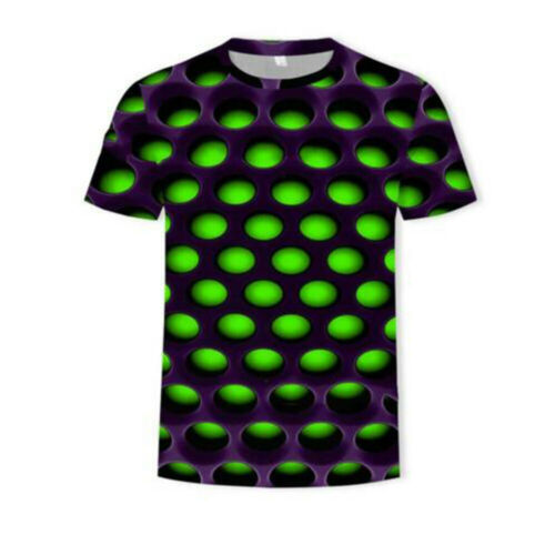 Funny Hypnosis 3D T^Shirt Men Women Colorful Print Casual Short Sleeve Tee~