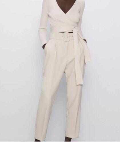 Zara Taille Haute Pantalon Avec Ceinture Tailles Et Couleurs Disponibles blogueurs AW 2020