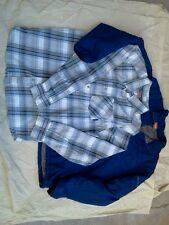 MERRELL Insulated Full-Zip Jacket/Button Shirt Combo, mens XL-Large,blue/print