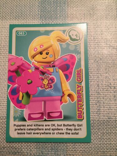 SAINSBURYS LEGO INCREDIBLE INVENTIONS 2018 CARD No Butterfly Girl 83