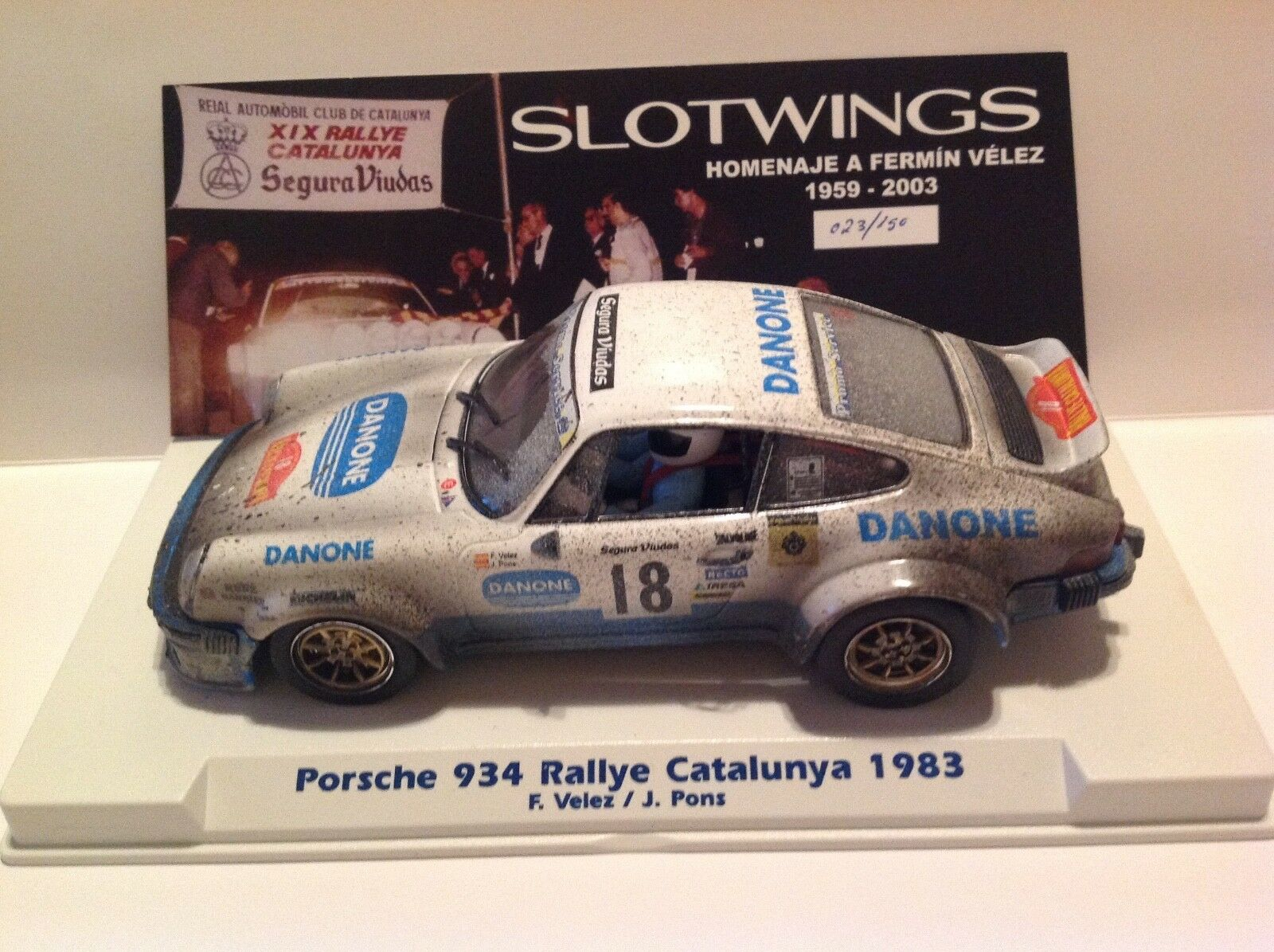 SLOTWINGS PORSCHE 934 Rallye Catalunya 1983 avec boue LTD. EDITION-NEUF