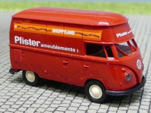 1//87 Brekina # 1671 VW t1 Pfister ameublements CH alto techo 32614