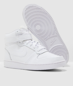 Details zu Nike Ebernon Mid Premium Womens Sneakers White Leather AQ1769 101 Shoes Trainers