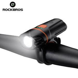 ROCKBROS-Rechargeable-Bike-Headlight-Flashlight-Waterproof-Bicycle-Front-Light