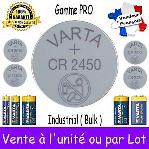 Piles VARTA CR2450 3V ou CR2430 CR2032 CR2025 CR2016 / LR03 LR6 LR14 LR20 6LR61