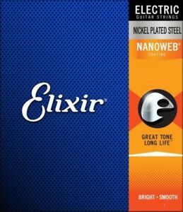Elixir-NANOWEB-Electric-Guitar-Strings-6-amp-12-Sting-sets-with-choice-of-Gauge