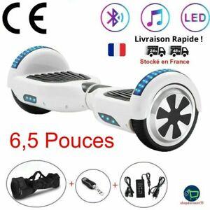 Lot de 2 Hoverboard Bluetooth Gyropode Electrique Smart Balance Wheel 6,5 Pouces