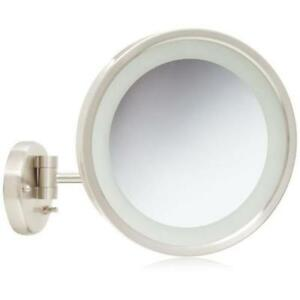 Jerdon Hl1016nl 9 5 Quot Led Lighted Wall Mount Makeup Mirror