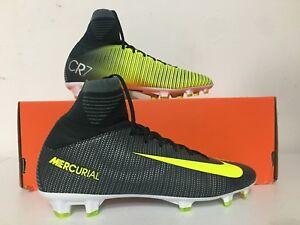 9f15f3e1d5b Nike Jr Mercurial Superfly V CR7 FG Soccer Cleats Green Volt SZ 4Y ...
