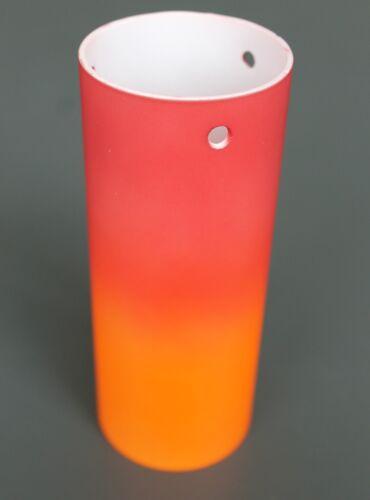 Glas Lampenschirm Ersatzglas Zylinder rot//orange E14 Lochmaß Fassung ø 50mm