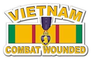 Purple-Heart-Vietnam-Combat-Veteran-5-5-034-Window-Sticker-Decal