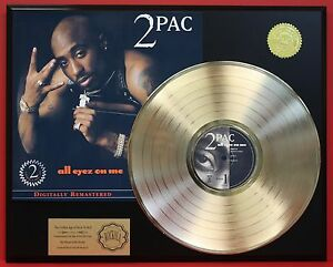 2-PAC-All-Eyez-On-Me-24k-Gold-LP-Record-Display-Free-Shipping-USA