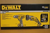 DEWALT 12-Volt Max Lithium-Ion Drill Driver and Recip Saw Combo Kit DCK212S2 Tools and Accessories