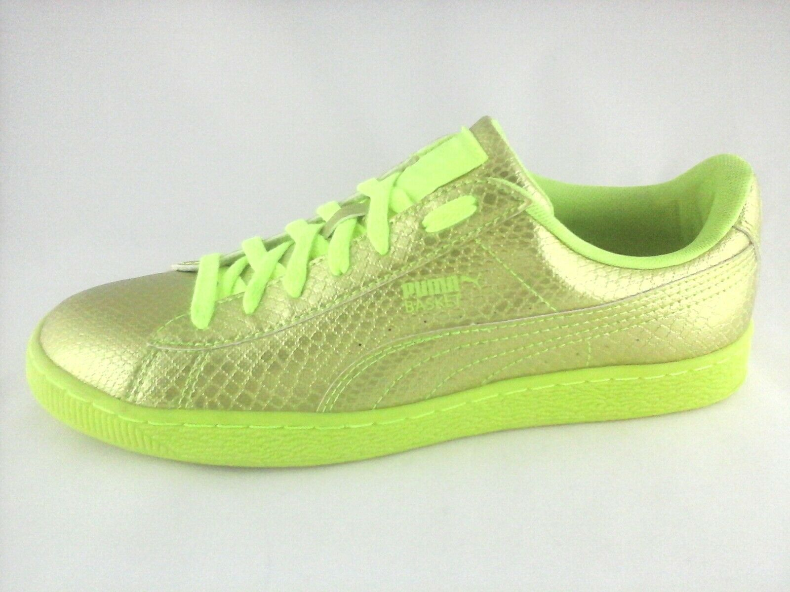 Puma Womens Animal Print Metallic Bright Green Fashion Shoes US 10
