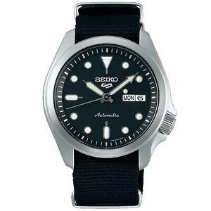 Seiko-5-Sports-Automatic-Black-Dial-Nylon-Strap-Men-039-s-Watch-SRPE67K1-RRP-230