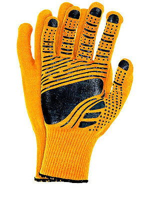 6 Paar Arbeitshandschuhe Schutzhandschuhe Größe 8-9-10  FLOATEX-NEO Orange