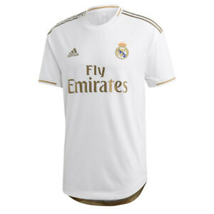 Details about Size XL adidas 2019-20 Real Madrid Home Jersey White Gold Men's Soccer NWT NEW