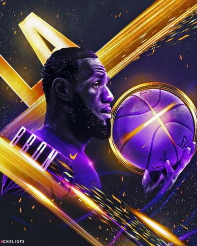 "LBJ La Lakers NBA MVP Basketball 24/""x30/"" Poster 660 Lebron James"