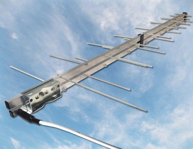 BoostWaves Directional Yagi TV Antenna HDTV UHF VHF FM Outdoor Digital
