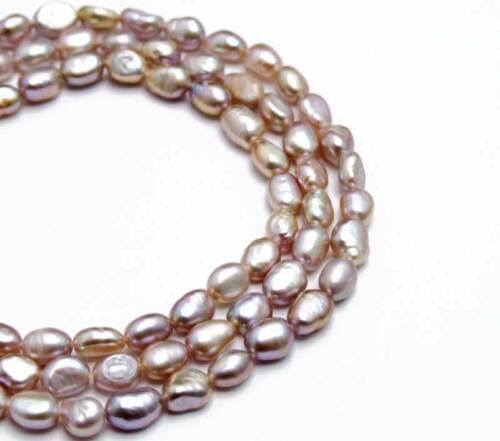 6-7mm Baroque Purple Natural Pearl Loose Beads for Jewelry Making Strands 14/'/'