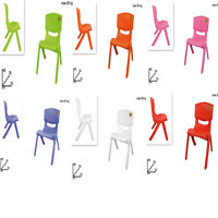 CHAIR PLASTIC VARIOUS COLORS Home Furnishing Garden Children Game Table