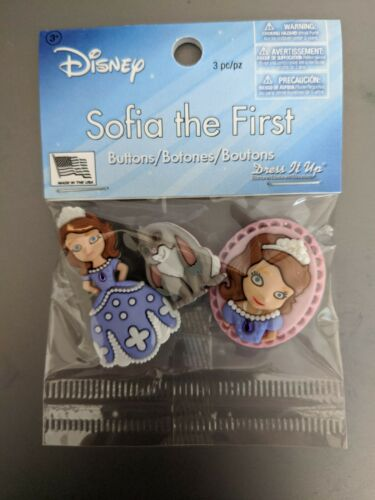 Dress It Up Buttons  Disney Sofia the First LICENSED Jesse James Buttons