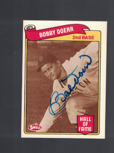Bobby Doerr Boston Red Sox 1989 Swell Signed Baseball Card W/Our COA