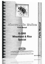 Parts Manual Minneapolis Moline G1000 Wheat Amp Rice Tractor
